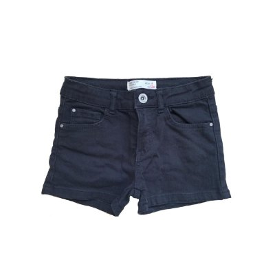 Shorts Jeans ZARA Infantil Preta Stretch