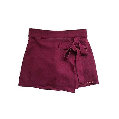 Shorts Saia ME E MY Infantil Vinho