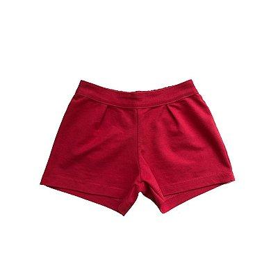 Shorts Malha MILON Infantil Vermelho