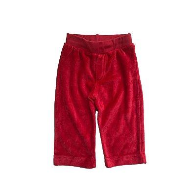Calça MINI&NINHA Infantil Vermelha Veludo