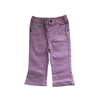Calça Jeans CALVIN KLEIN Infantil Rosa com Stretch