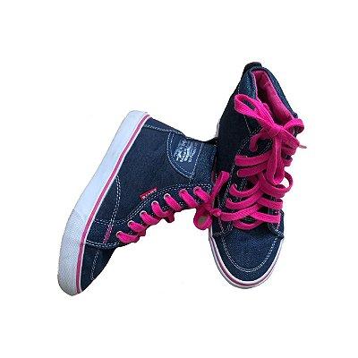 Tenis LEVIS Infantil Jeans e Pink