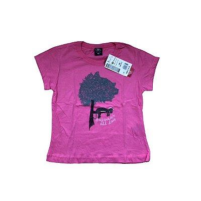 Camiseta HERING Infantil Pink Arvore (ETIQUETA)