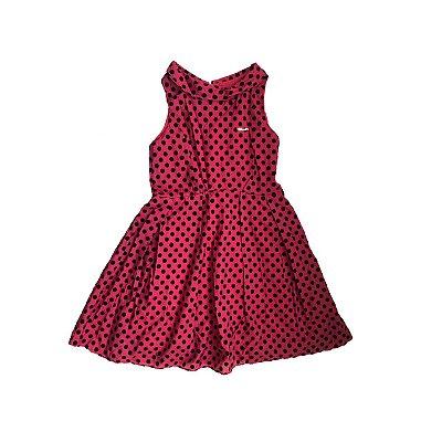 Vestido LILICA RIPILICA Infantil Vermelho com Bolinhas Pretas