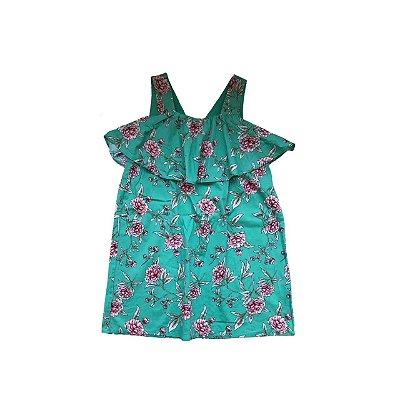 Vestido FOREVER 21 Infantil Verde Florido