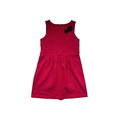 Vestido GENUINE KIDS Infantil Vermelho Bolas Pretas