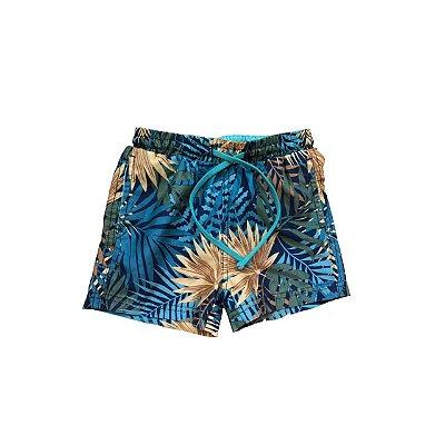 Shorts HERING Infantil Verde Folhas