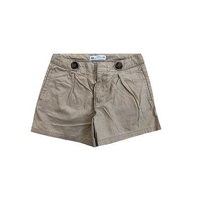 Shorts Sarja ZARA infantil Caqui