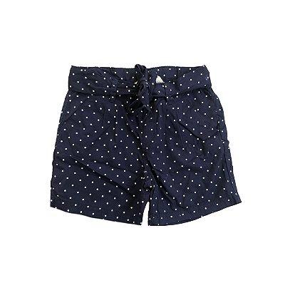 Shorts H&M infantil Marinho com Bolinhas Brancas