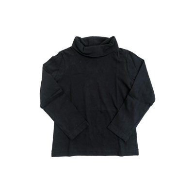 Camiseta Manga Longa POIM Infantil Preta Gola Alta
