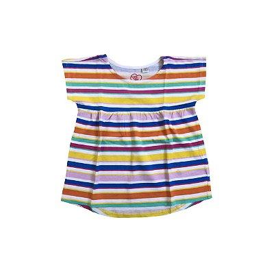 Camiseta CHICCO Infantil Listras Coloridas