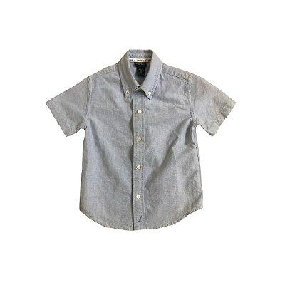 Camisa Nautica Infantil Azul Manga Curta