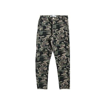 Calça Jeans ZARA Infantil Camuflada