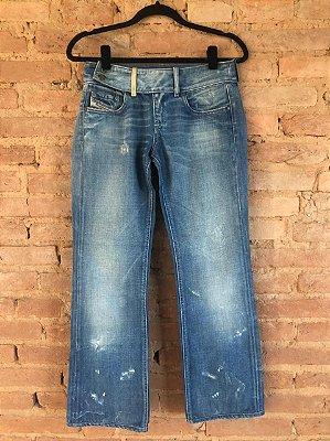 Calça Jeans Diesel Claro Destroyed