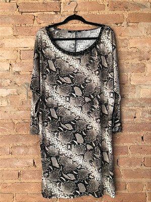 Vestido Talita Kume Animal Print Cobra