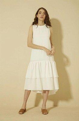 Vestido Luiza Botto Midi Branco