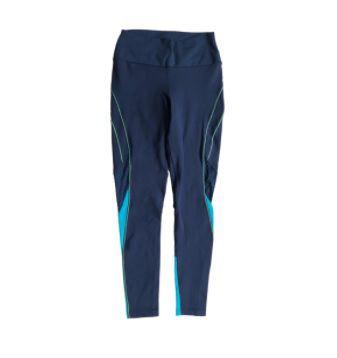 Legging com Recortes Azul Marinho e Verde