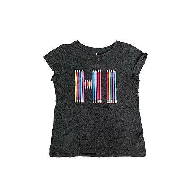 Camiseta GAP Infantil Chumbo HI