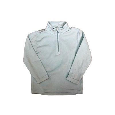 Agasalho Fleece DECATLHON Azul Claro Ziper ( mais gasto)