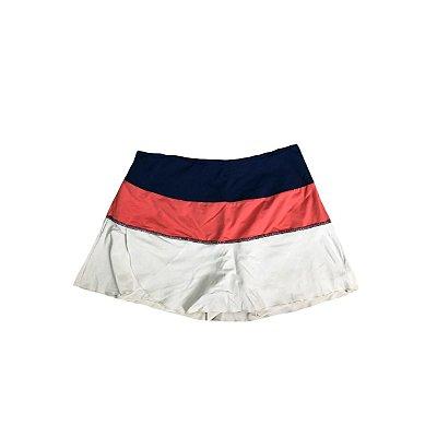 Shorts Saia Feminino Branca, Marinho e Rosa