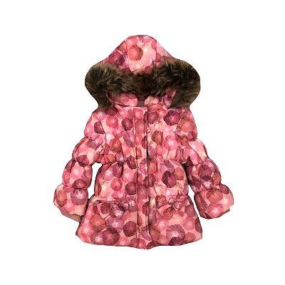 Casaco COEUR Infantil Rosa Nylon Capuz Pelos