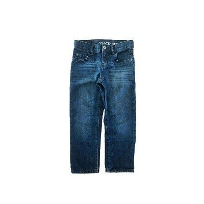 Calça Jeans Palce Escura Reta
