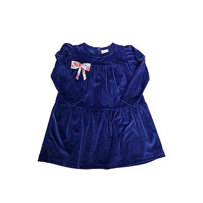 Vestido MINI VIDA Infantil Veludo Roxo