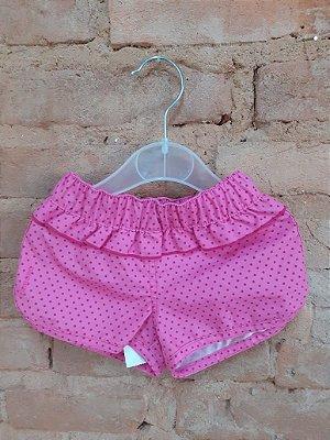 Shorts TRIBORD Infantil Pink com Bolinhas