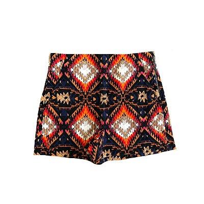 Shorts ZARA Feminino Estampado Colorido