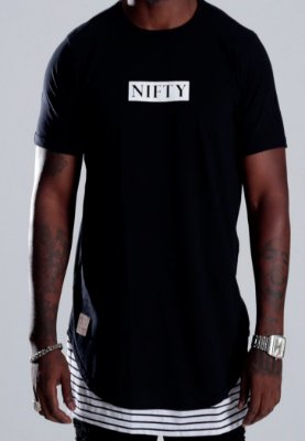 Camiseta Oversized Stripe Black