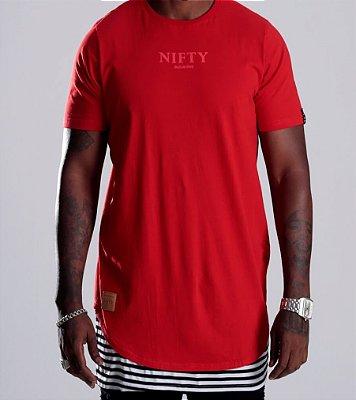 Camiseta Oversized Stripe Red