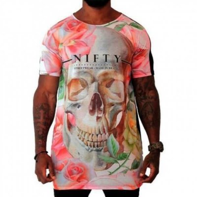 Camiseta Nifty Long Skull Light