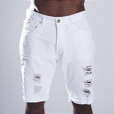 Bermuda Jeans Nifty Brim White