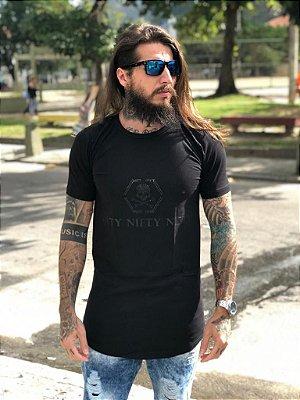 Camiseta Nifty Skull Strass Black