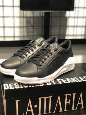 Tênis LaMafia Clothing Geometric Black