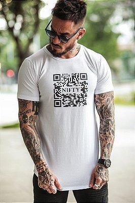 Camiseta Nifty QR Code White