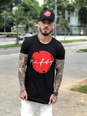 Camiseta Nifty Red Circle Black
