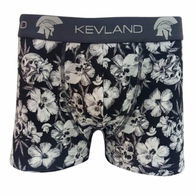 Cueca Boxer Kevland Floral Dark