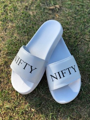 Chinelo Slide Nifty White