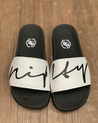 Chinelo Slide Nifty Mixed Black/White
