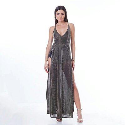 Vestido Labellamafia Metallic Velvet