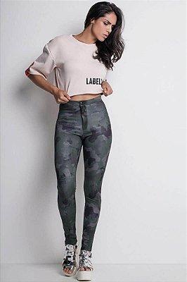 Calça Labellamafia Camuflada Discopants