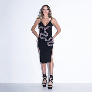 Vestido Labellamafia Longo Ink