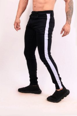 Calça Brim Nifty Black Band White