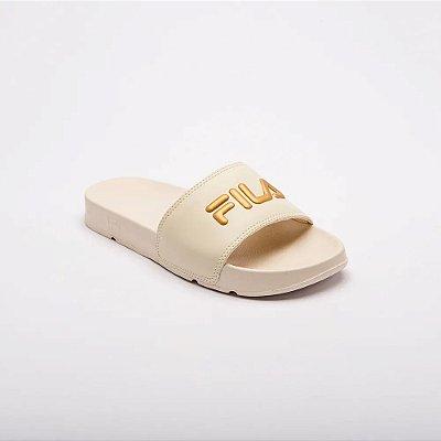 Chinelo Fila Drifter Basic Feminino Bege/Dourado