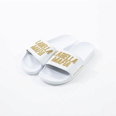 Chinelo Fem. Slide LabellaMafia Dourado