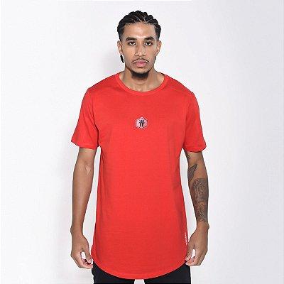 Camiseta Dabliu Basic Hexagono Red