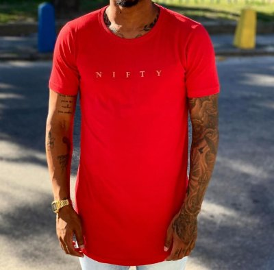 Camiseta Nifty High Relief Red/Red