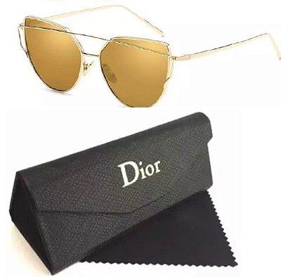 Óculos Dior Starlight Feminino Lentes Douradas