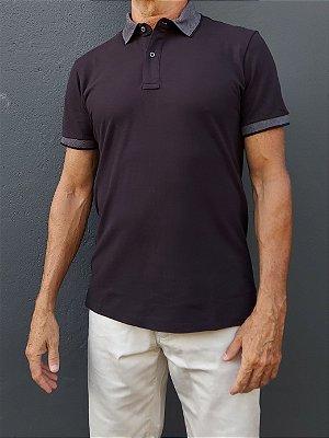 Camisa Polo - Gola Jacquard